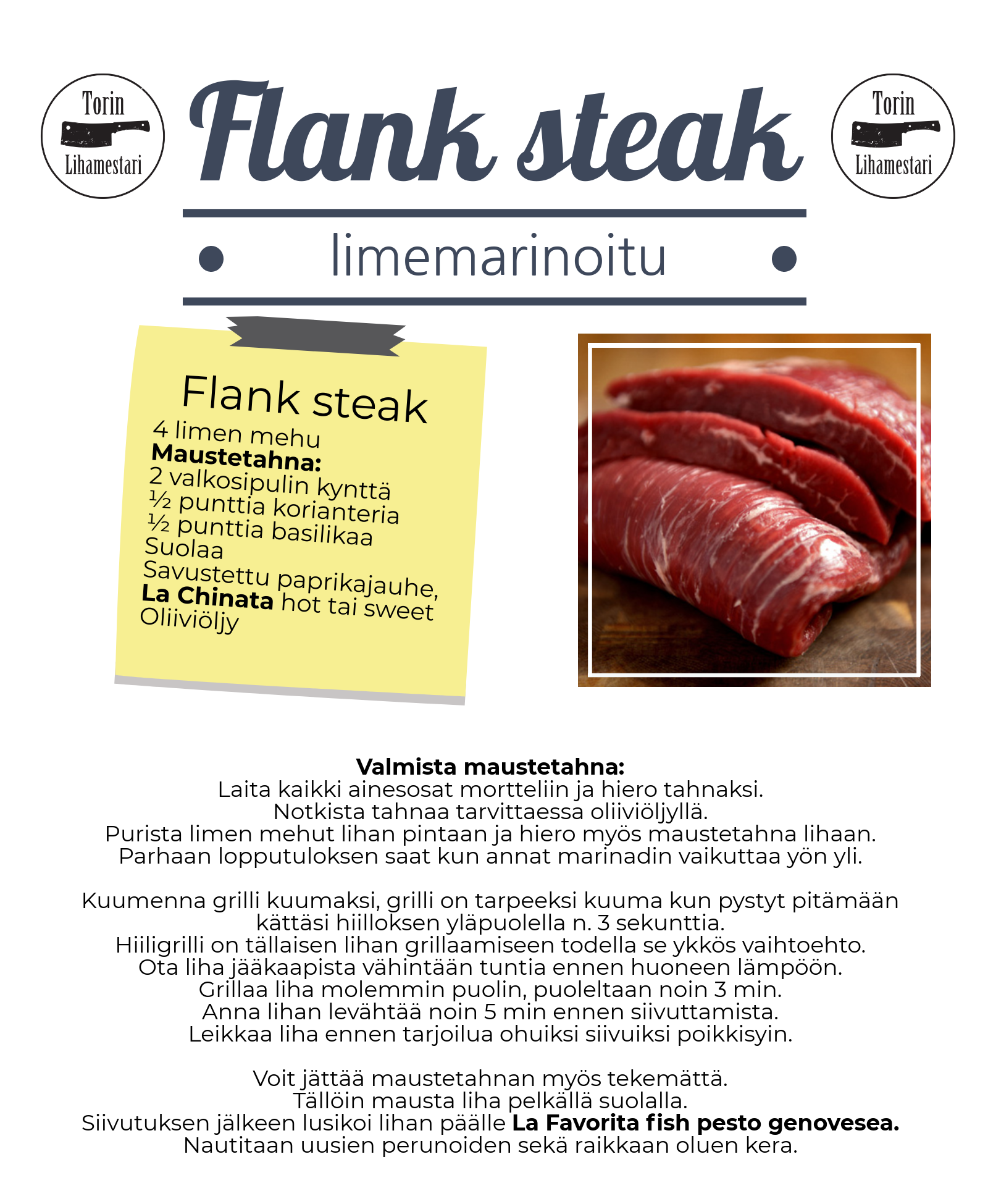 Flank steak resepti.