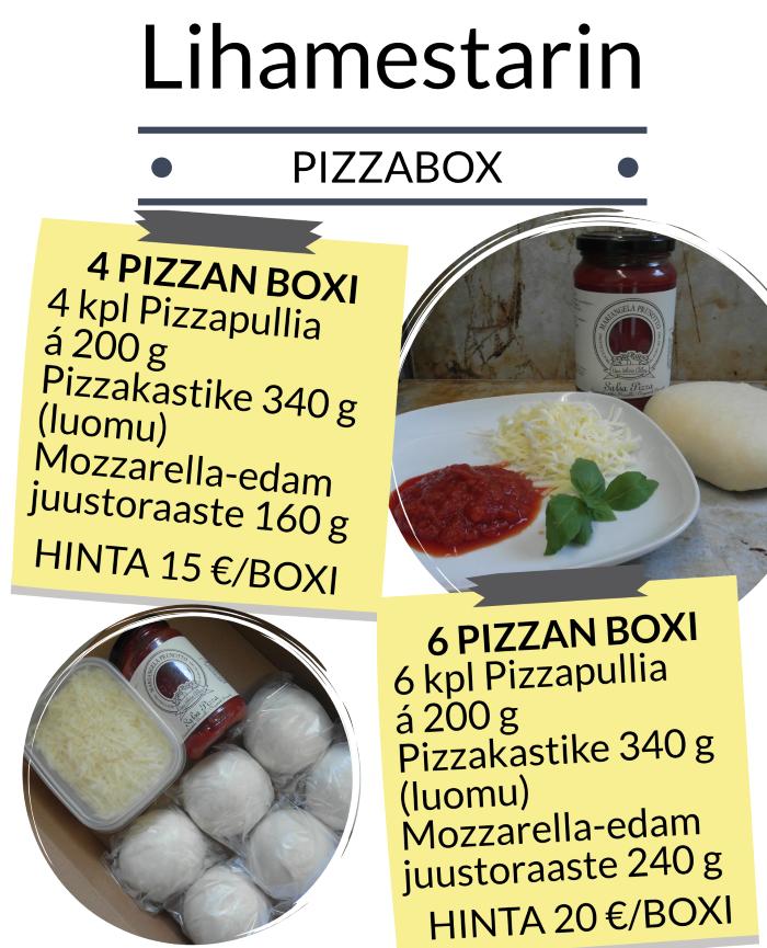 Torin Lihamestarin valmis pizzaboxi hinta.