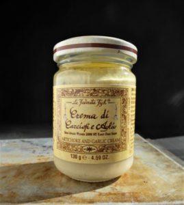 latva-artisokka valkosipuli creme.